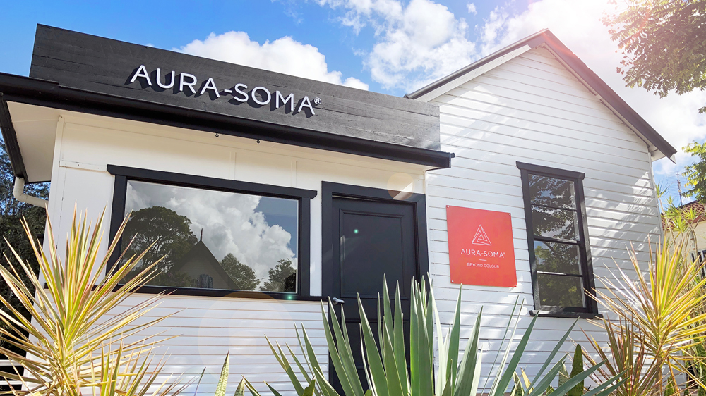 Aura-Soma Australian shop front in the sunshine