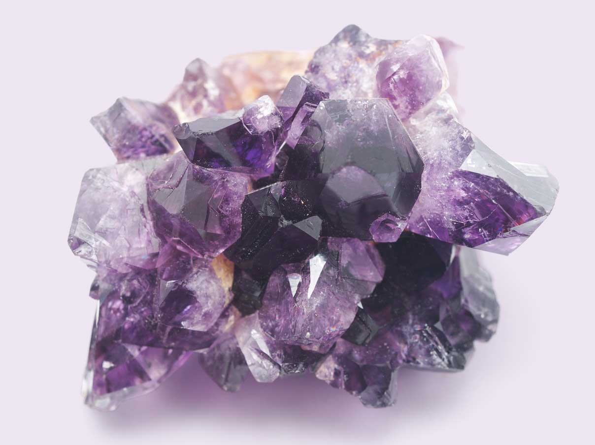 Purple Amethyst crystal
